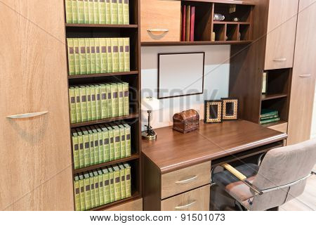 Interior of a cabinet
