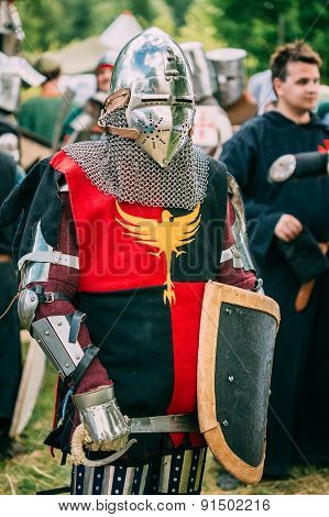 Warrior participant of VI festival of medieval culture