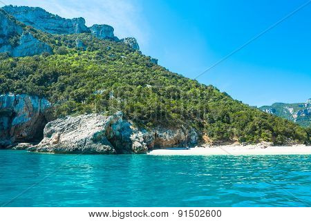 Cala Luna Beach On A Summer Day