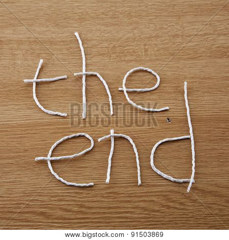 The End, Sign For Education or Business Lectures or Presentations.