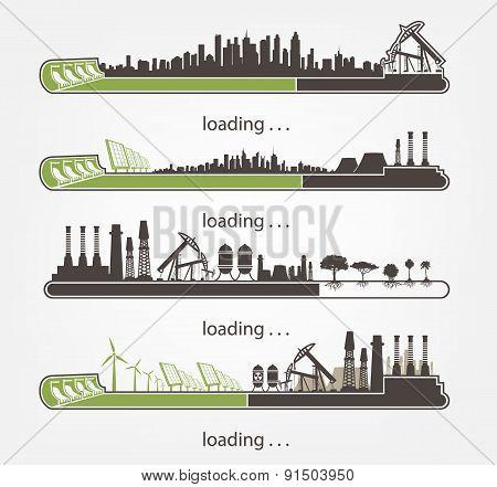 set status Bar and factories, renewable energy