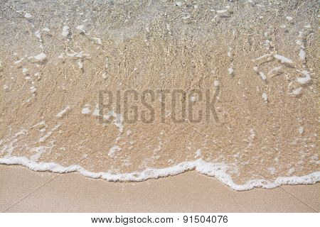 Transparent Water On A Golden Shore