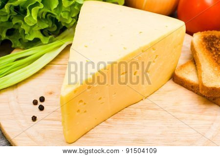 Cheese Board With Vegetables