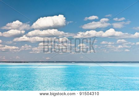 Seascape Panorama On a Sunny Day