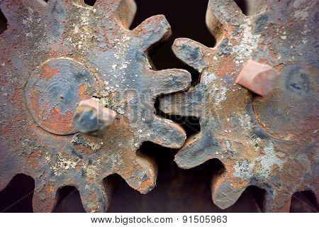 Rusty Vintage Cogwheels