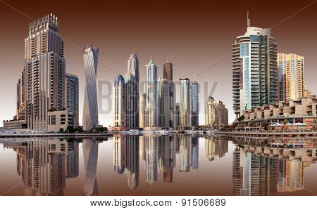 View of the region of Dubai - Dubai Marina