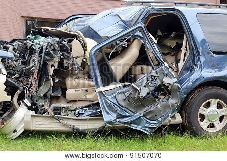 Car Wreck Driver Texting