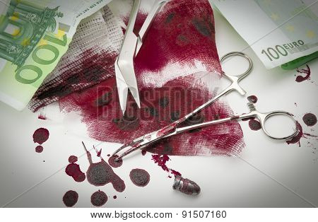 Bullets, Blood, Bandage And Money
