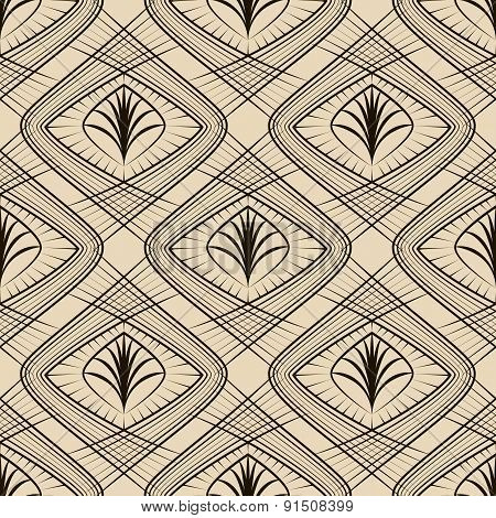 Seamless Geometric Pattern Ornament In Vector