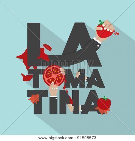 La Tomatina Typography Design.