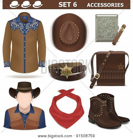 Vector Male Accessories Set 6