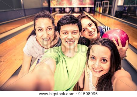 Friends At Bowling
