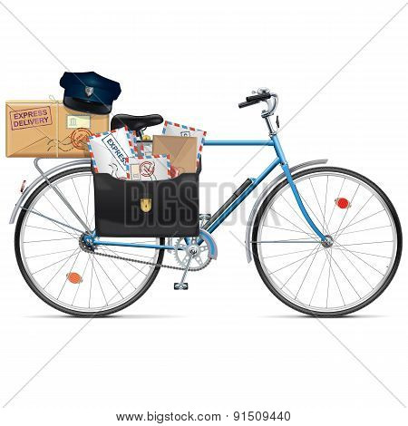 Vector Postal Bicycle