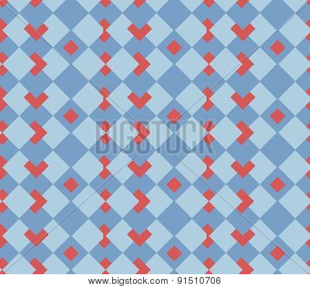 Red hearts seamless  sell background