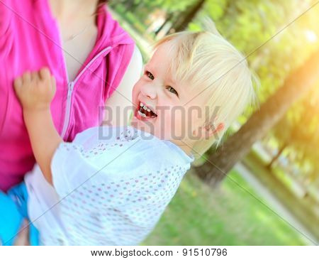 Cheerful Child Outdoor