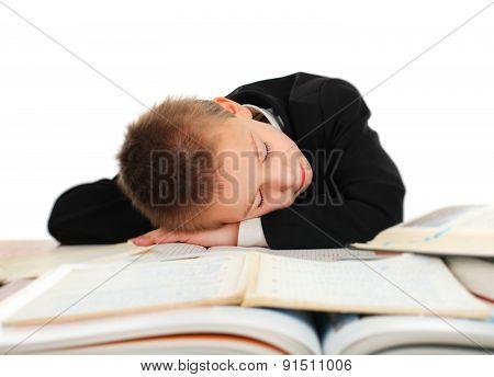 Schoolboy Sleeping