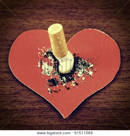 Cigarette With The Heart Shape