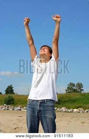 Happy Teenager Outdoor
