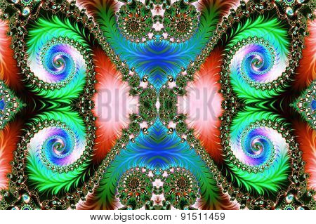 Multicolored Background With Spiral Pattern. Artwork For Creative Design, Art .