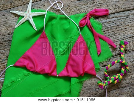 Summertime Background, Summer Bikini