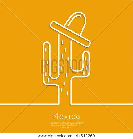 Vector icons of cactus