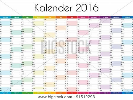 Kalender 2016 - GERMAN VERSION