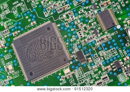 Fragment Of Electronic Board