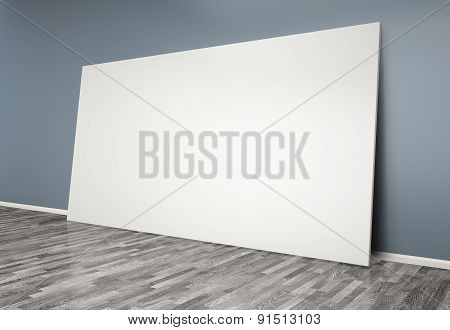 3D  Room With Blank Poster