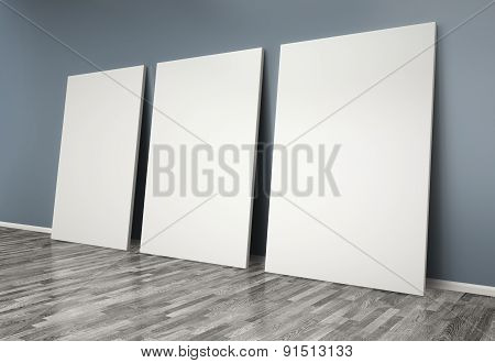 3D  Room With Blank Posters