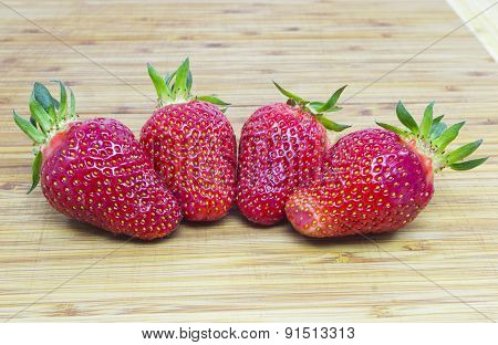Four Strawberry