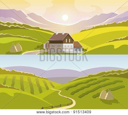Mountain Landscape Banner Set