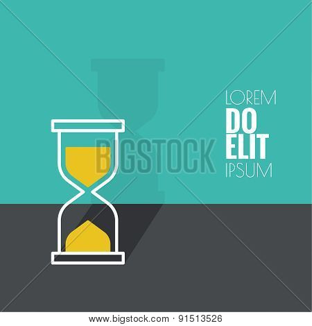 Abstract background with an hourglass