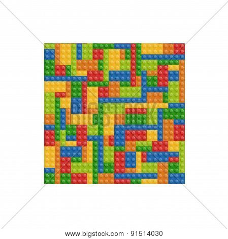 seamless building blocks vector background