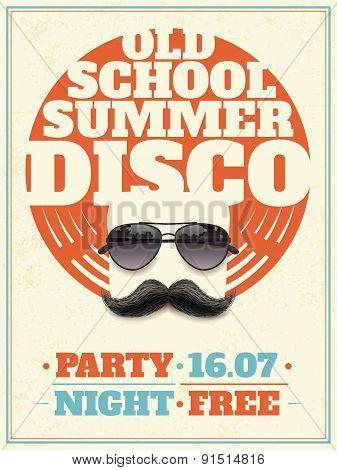 Sunglasses Retro Poster