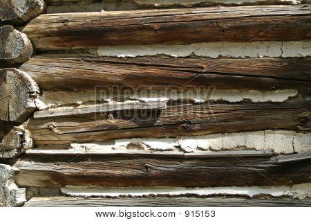 Closeup Of Log Building