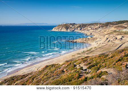 Summer Landscape Of Gibraltar Strait, Morocco
