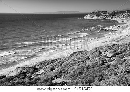 Atlantic Ocean Monochrome Coastal Landscape