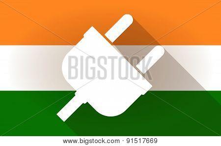 India Flag Icon With A Plug