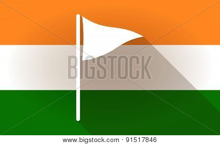 India Flag Icon With A Golf Flag