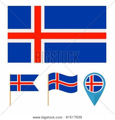 Iceland,country flag