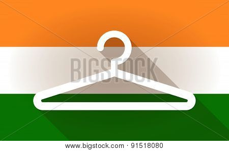 India Flag Icon With A Hanger