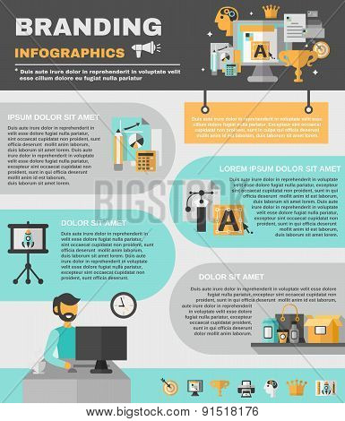 Branding Infographics Set