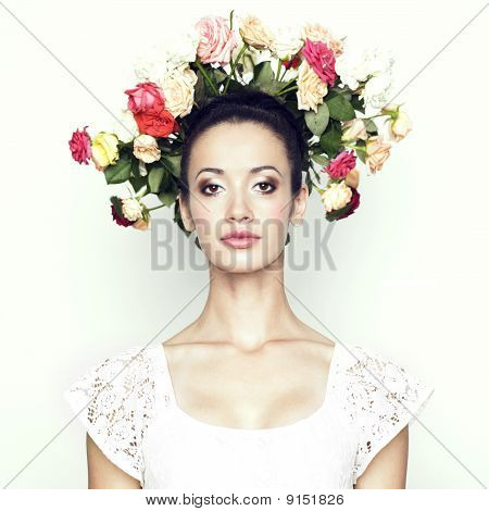 Girl With Hair Of Roses