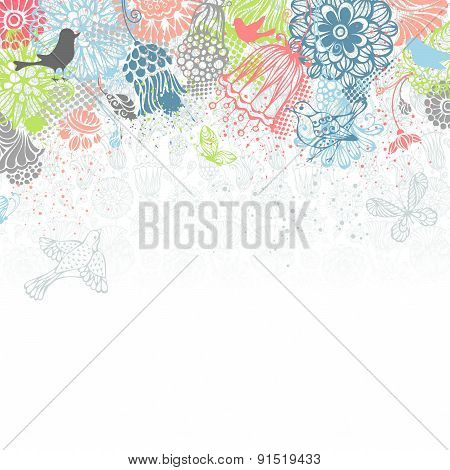 Bright Floral Background.