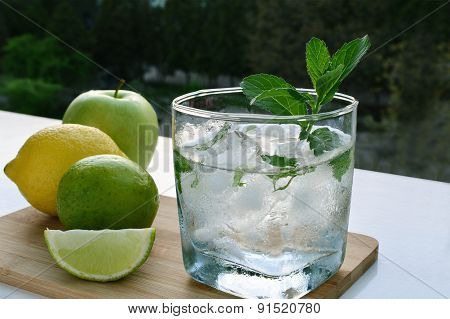 Glass Of Lemon Water Refreshment