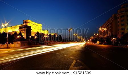 Parliament Palace In Bucharest