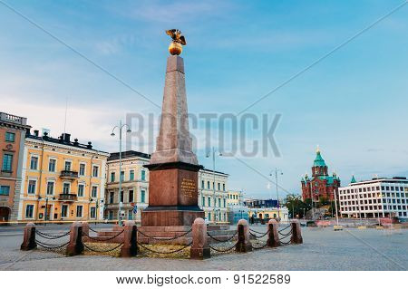 Stela Empress On Embankment In Helsinki At Summer Evening, Finla