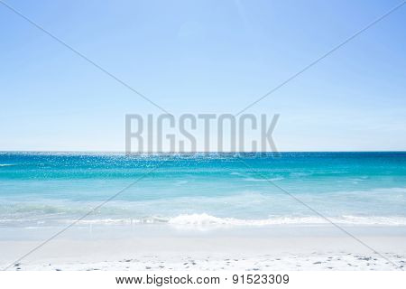 Empty beach on a sunny day