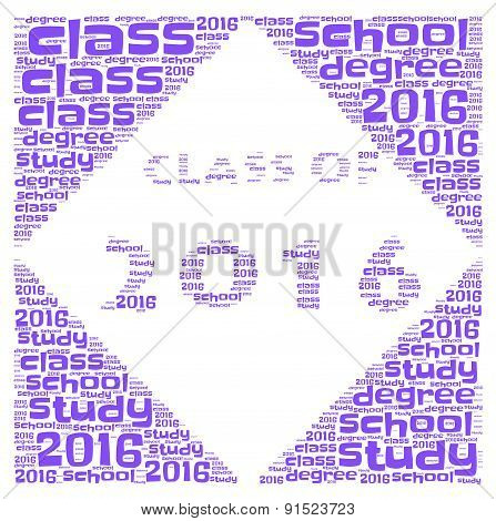 Class Of 2016 - Blue Word Cloud