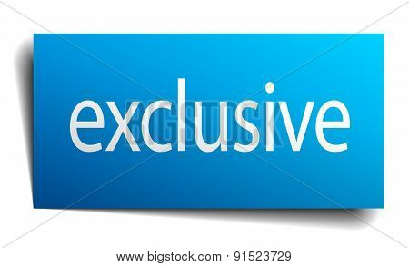 Exclusive Blue Paper Sign On White Background
